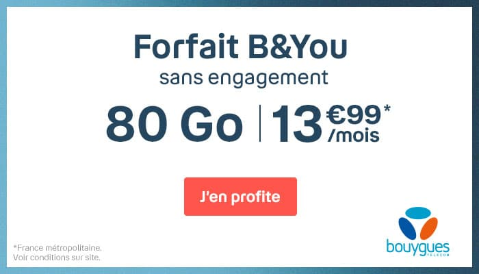 Forfait Illimite 80go Promo